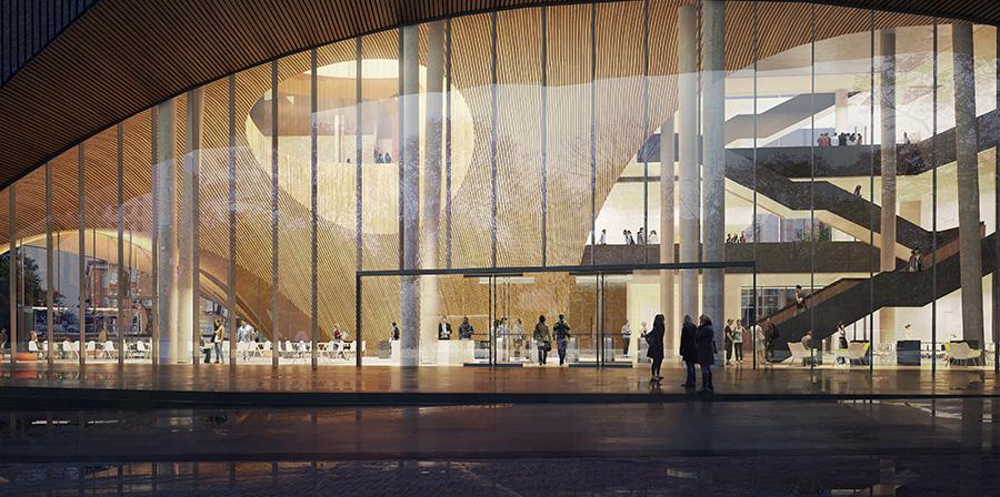 new library atrium rendering